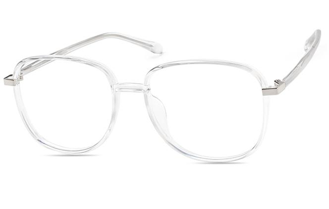 Jamie Square Eyeglasses, Grey;clear;blue;pink