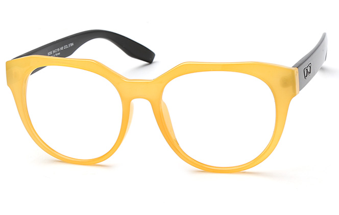 Dextrad Polygon Eyeglasses, Blue;yellow