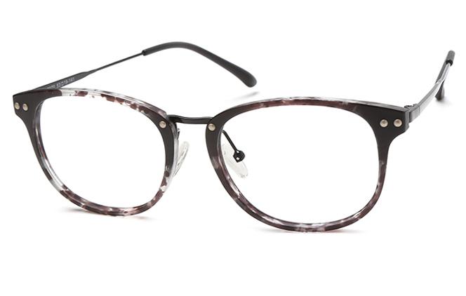 Caesar Rectangle Eyeglasses, Tortoiseshell;floral