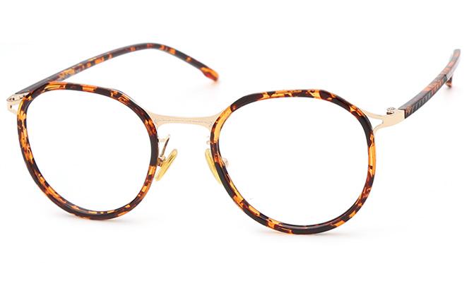 Helen Round Eyeglasses, Tortoiseshell;clear and black