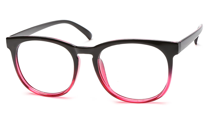 Penny Oval Eyeglasses, Floral;burgundy;black;other