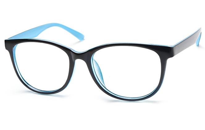 Paula Oval Eyeglasses, Blue;pink