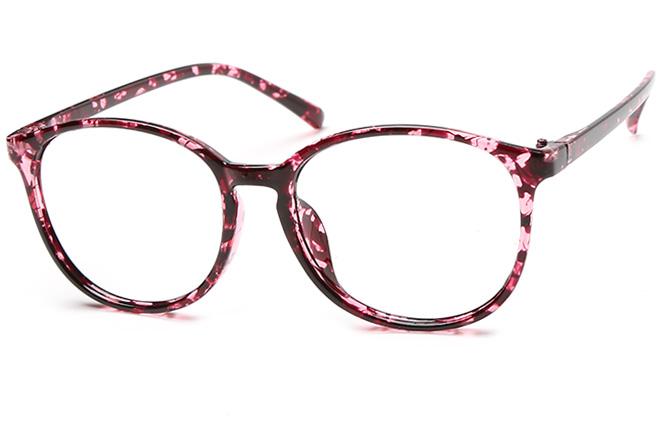 Rebecca Oval Eyeglasses, Pink;floral;unique floral