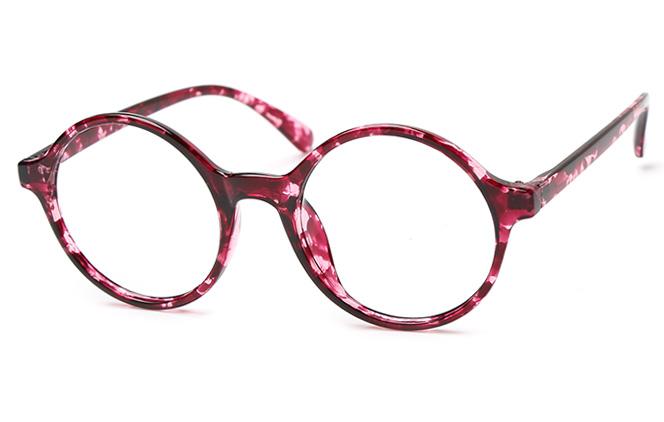 Angie Round Eyeglasses, Brilliant black;matte black;purple;floral