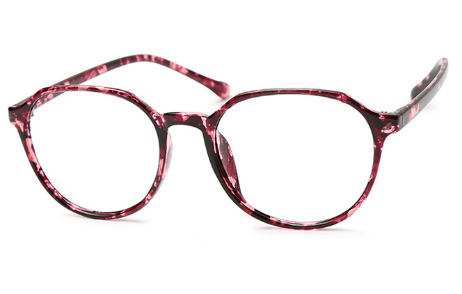 Alyssa Oval Eyeglasses, Clear;blue;floral
