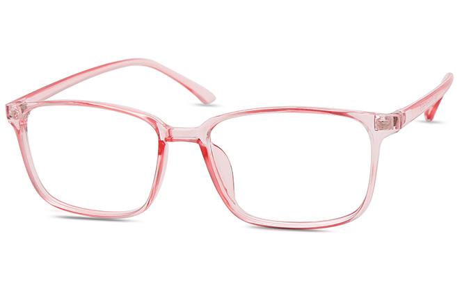 Cally Rectangle Eyeglasses, Pink;grey;blue