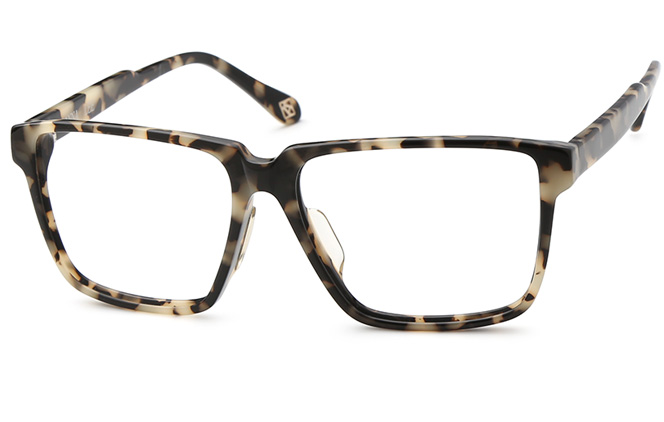 Janice Rectangle Eyeglasses, Tortoiseshell
