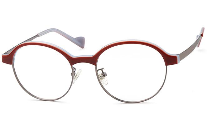 Karen Round Eyeglasses, Red;black
