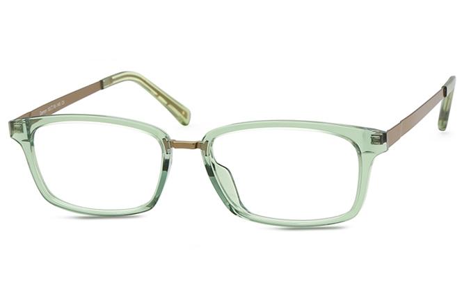 Leanne Rectangle Eyeglasses, Green