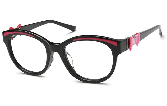 Elisabeth Cateye Eyeglasses, Rose & black;black & ivory;black;black & rose;green & tortoiseshel;tortoiseshell & green
