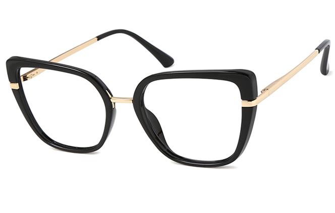 Ina Cateye Spring Hinge Eyeglasses, Clear;brown;pink;black