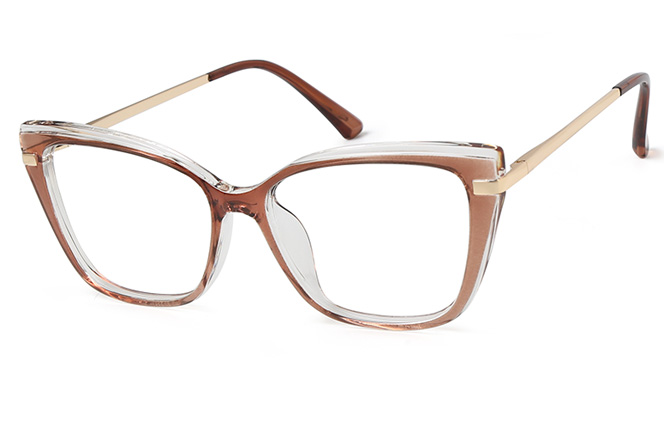 Jannet Cateye Spring Hinge Eyeglasses, Red;black;blue;clear;brown;pink