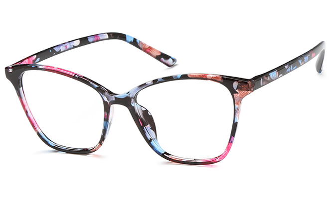 Iris Cateye Eyeglasses, Black;tortoiseshell;clear;floral