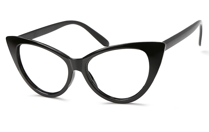 Isabella Cateye Eyeglasses, Black;white