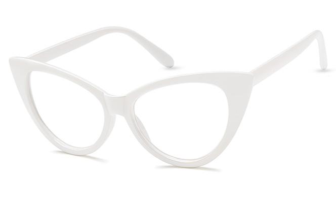 Isabella Cateye Eyeglasses, Black;white