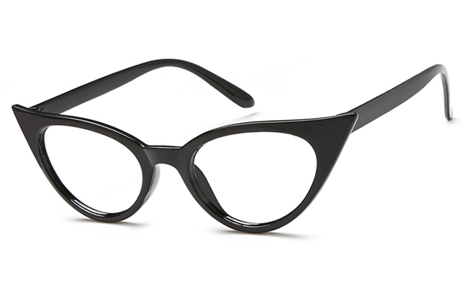 Joan Cateye Eyeglasses, Brilliant black