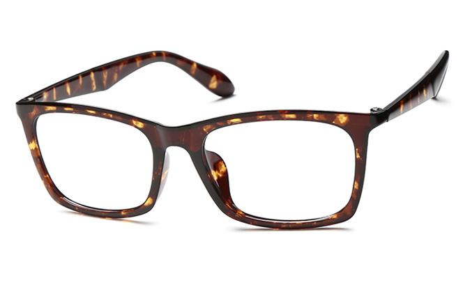 Qian Rectangle Eyeglasses, Tortoiseshell