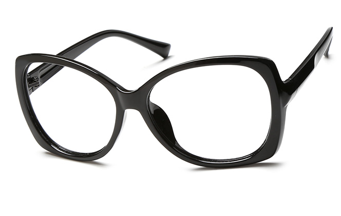 Wei Cateye Eyeglasses, Black