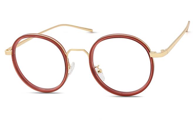 200516 Round Glasses, Tortoiseshell;burgundy;ivory