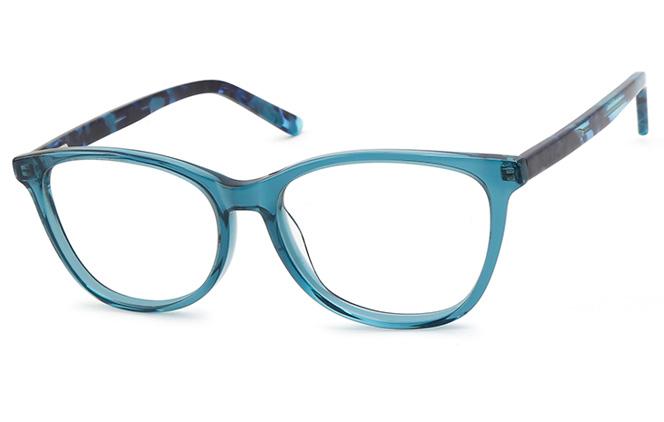 200538 Oval Spring Hinge Glasses, Atrovirens;purple