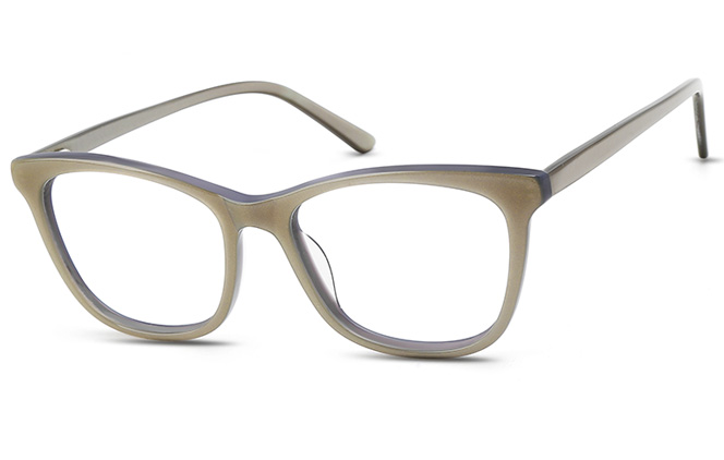 200539 Oval Spring Hinge Glasses, Blue and yellow;fluorescent grey