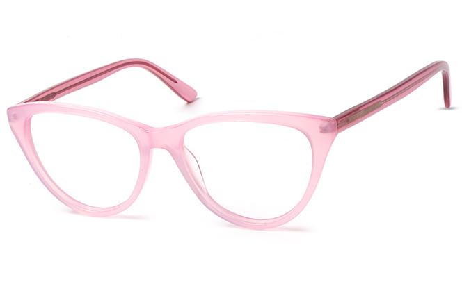 200542 Cateye Spring Hinge Glasses, Black;pink;purple