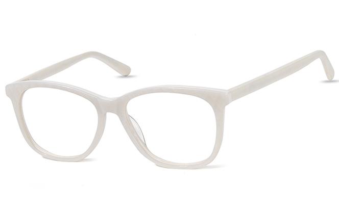 200544 Cateye Spring Hinge Glasses, White