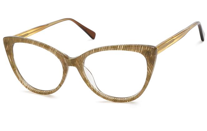 200548 Cateye Spring Hinge Glasses, Tortoiseshell;olive green