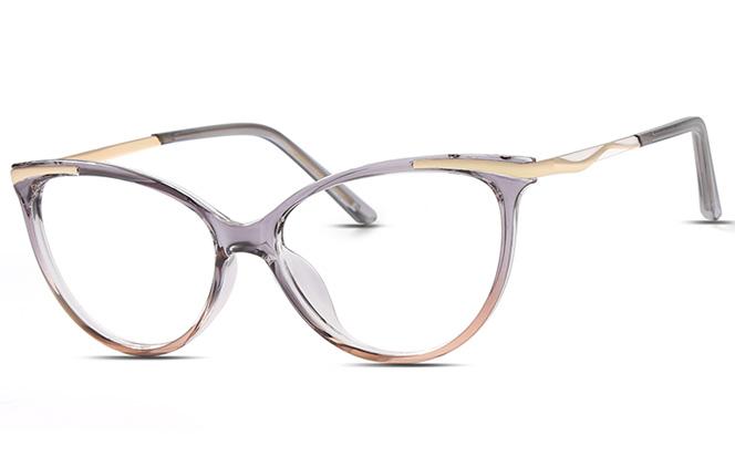 200565 Cateye Spring Hinge Glasses, Red;grey