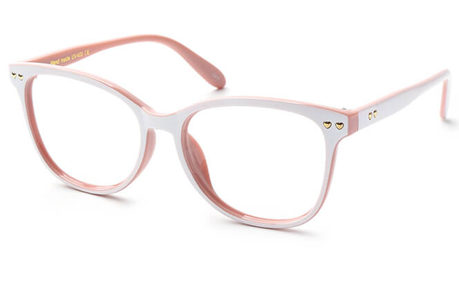 Gibbs Rectangle Eyeglasses, Pink
