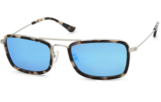 Gabrielle Aviator Sunglasses, Tortoiseshell