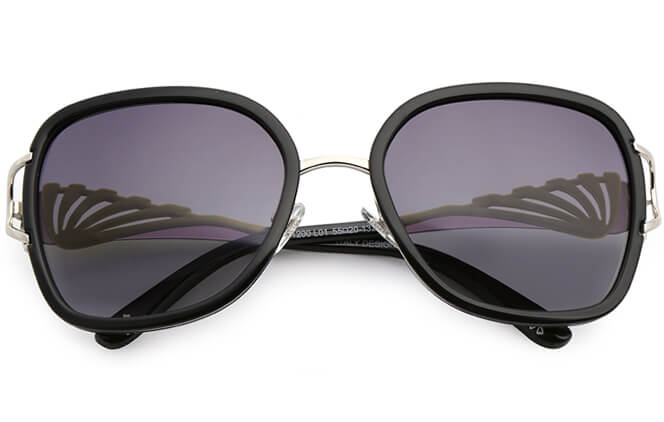 Eileen Rectangle Polrzied Sunglasses