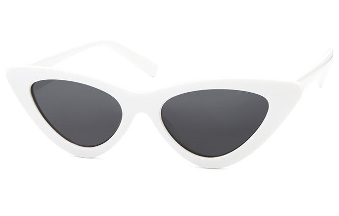 Erin Cateye Sunglasses, Tortoiseshell;white;matte black