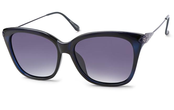 Constance Rectangle Sunglasses, Blue