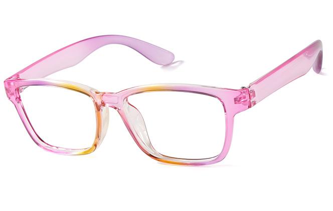 B00427 Rectangle Glasses, Pink