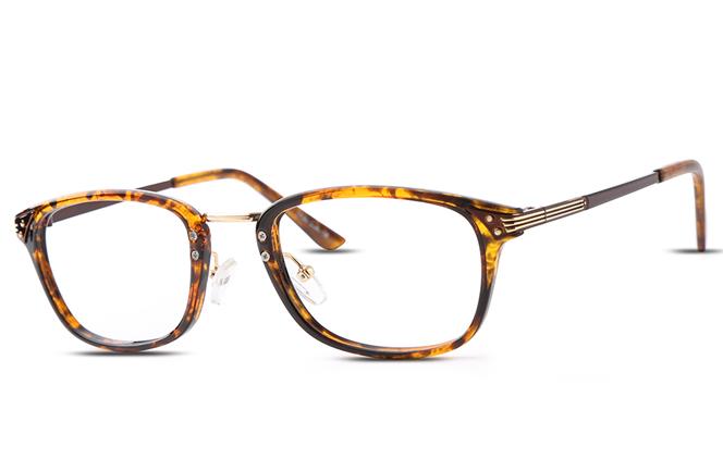 B00575 Rectangle Glasses, Tortoiseshell;burgundy