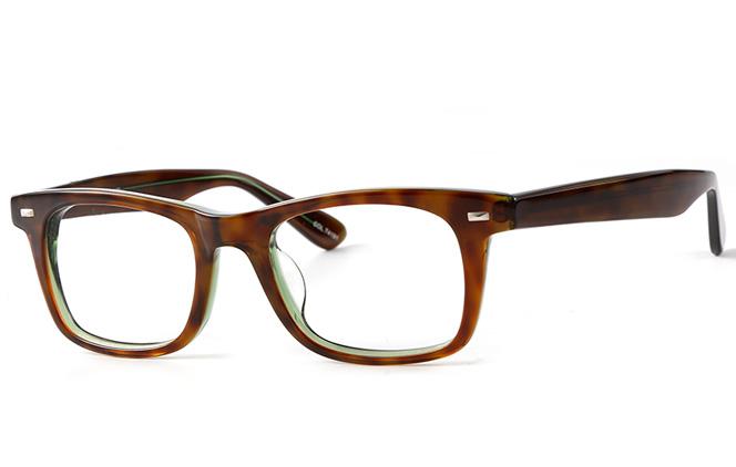 B00749 Square Glasses, Black;green tortoiseshell;purple tortoiseshell
