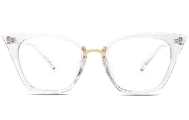 Endi Trendy Cat eye plastic frame
