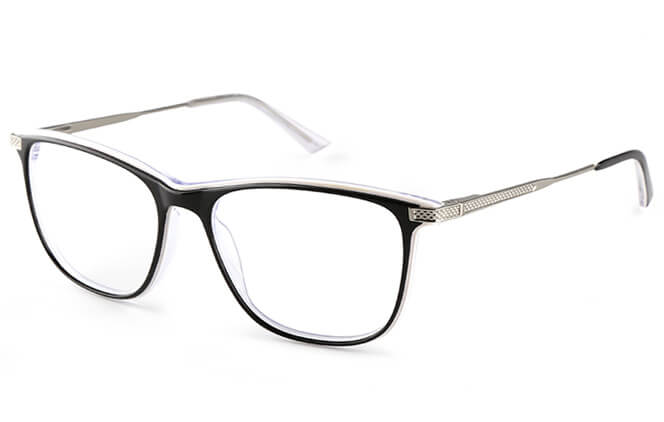 Michel Rectangle Eyeglasses, White;yellow;other;green