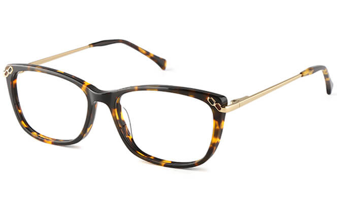 Averil Rectangle Eyeglasses, Black;tortoiseshell;red;other