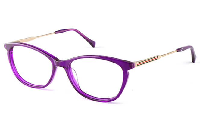Dana Rectangle Eyeglasses, Black;floral;purple;other