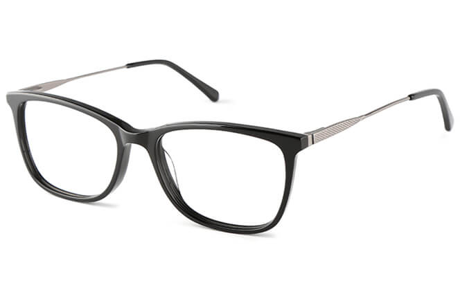 Billie Rectangle Eyeglasses, Black;tortoiseshell;blue;purple
