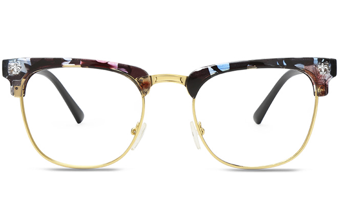 Ida plastic browline glasses