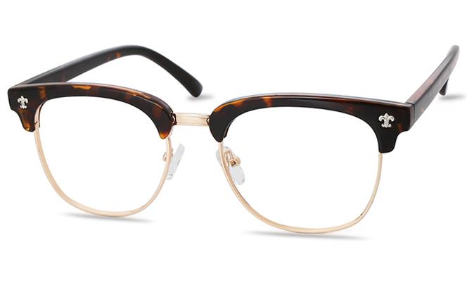Ida plastic browline glasses фото