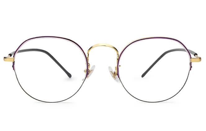 Jacqueline Round Semi-rim Eyeglasses