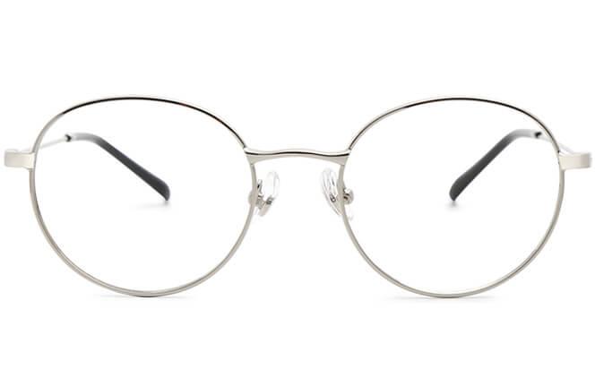 Enid round Metal Eyeglasses