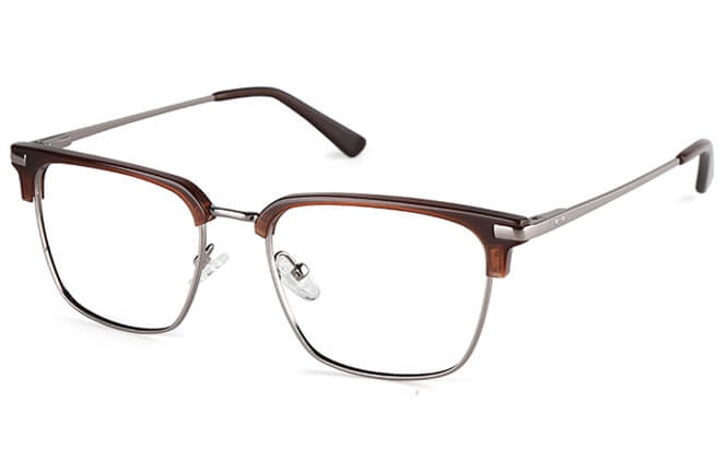 Brett Browline Rectangle Eyeglasses, Black;tortoiseshell;brown;dark blue