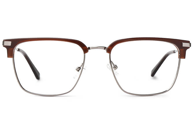 Brett Browline Rectangle Eyeglasses