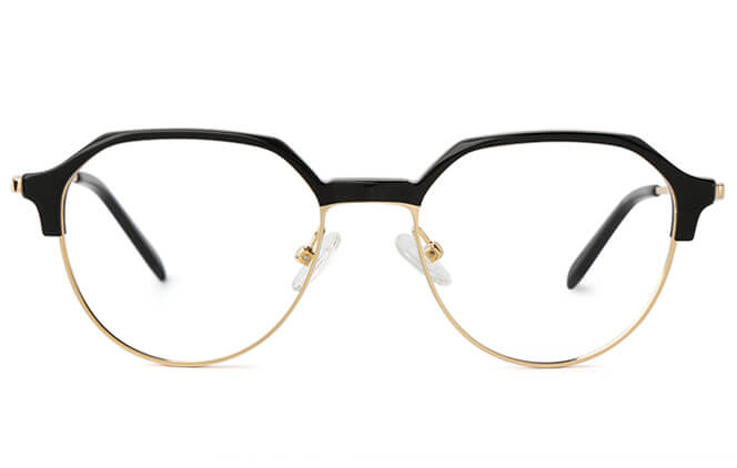Barrie Oval Browline Eyeglasses
