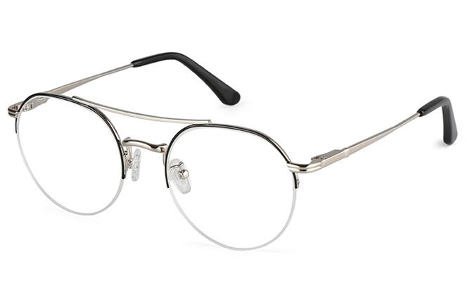 Drew Aviator Half-rim Eyeglasses